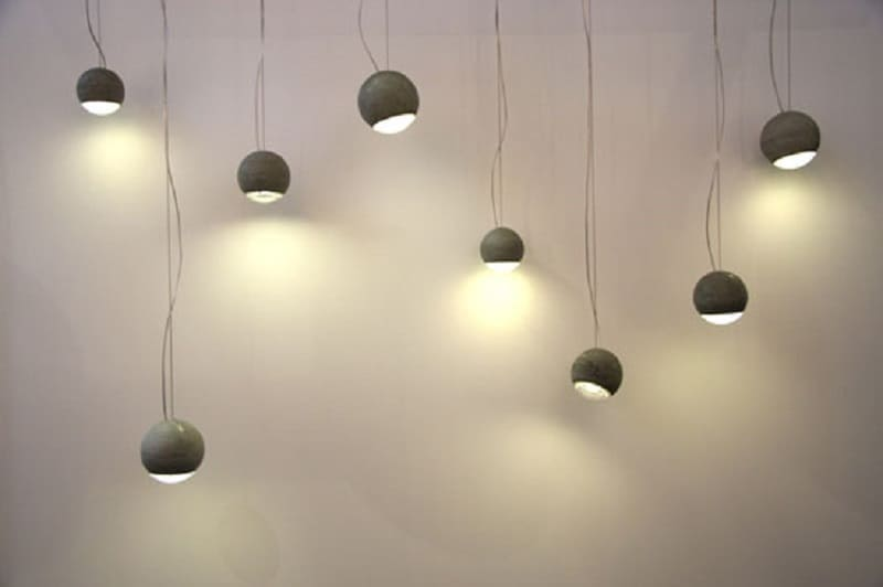 Trabant, spherical lamp made of concrete and glass2