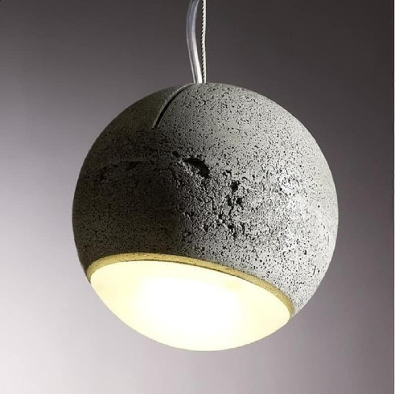 Trabant, spherical lamp made of concrete and glass4