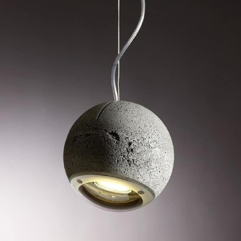Trabant, spherical lamp made of concrete and glass5