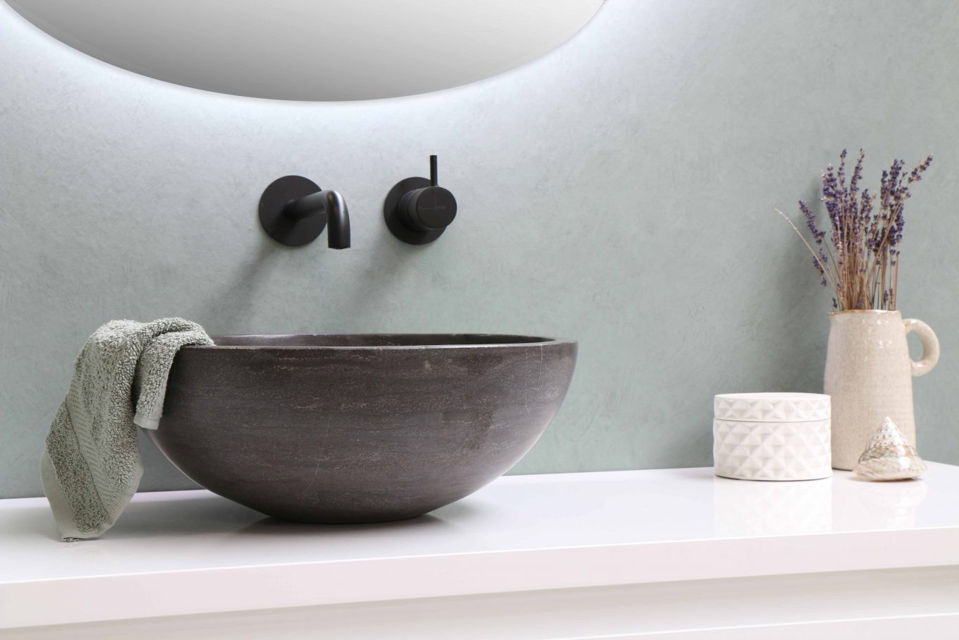 white ceramic bowl on white wooden table