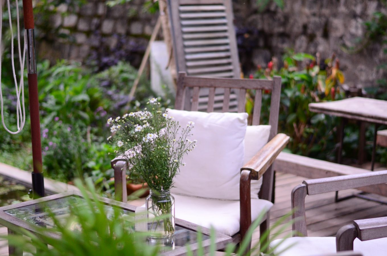 brown wooden armchair