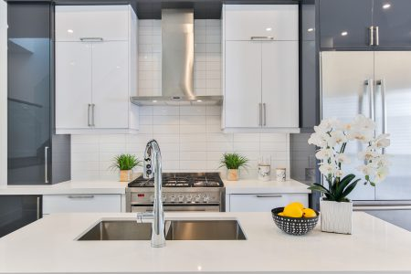 gray stainless steel faucet