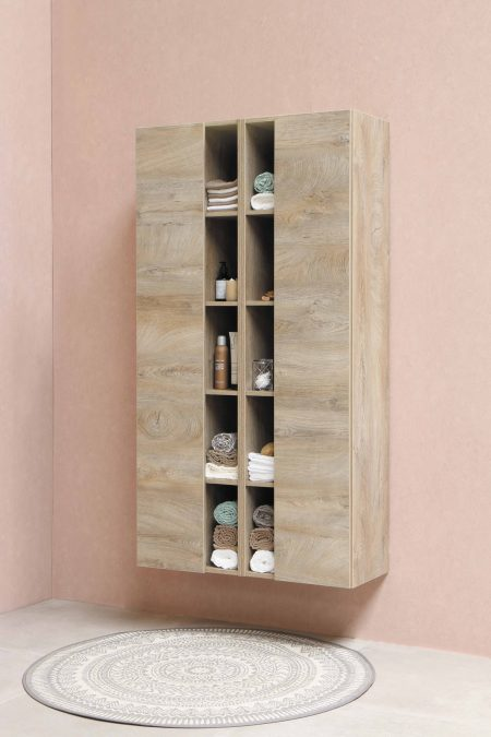 brown wooden shelf with bottles