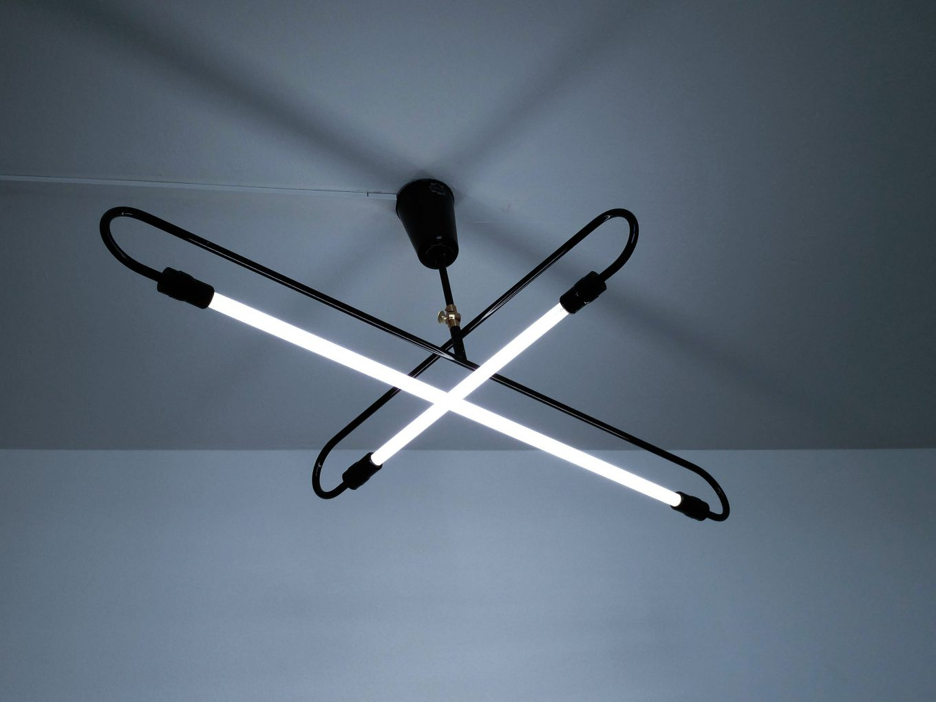 X-shaped ceiling lamp