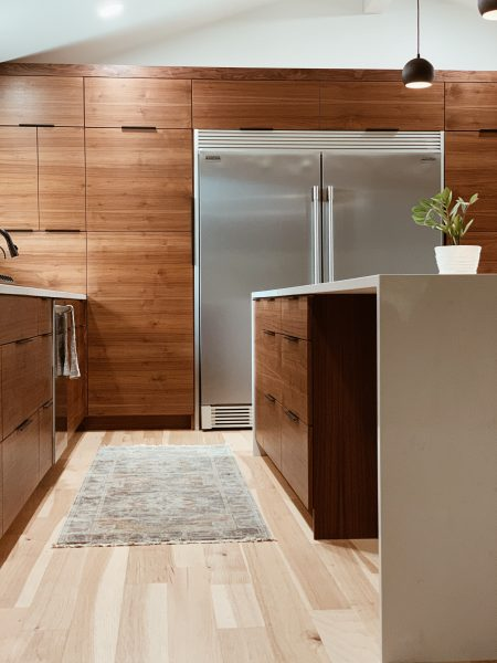 brown and white wooden kitchen cabinet