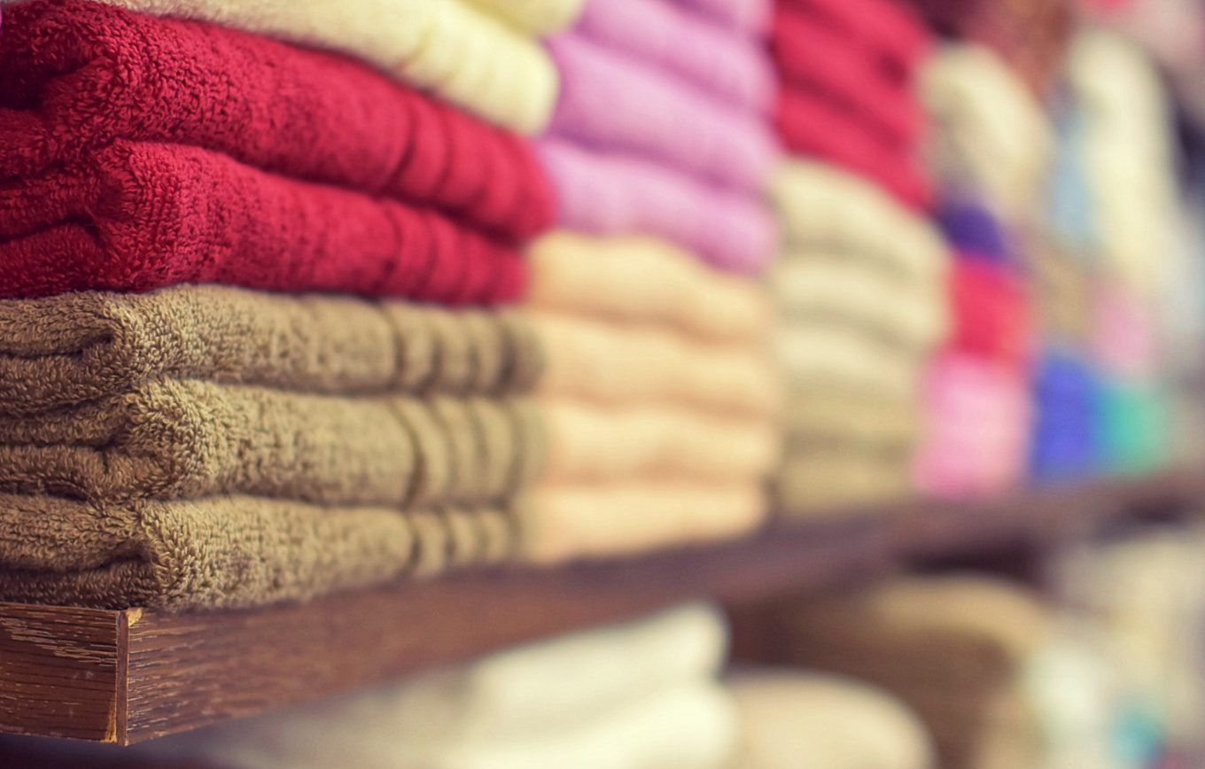 assorted-color towels